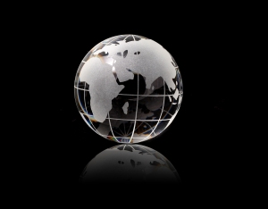 A Crystal Globe of the World